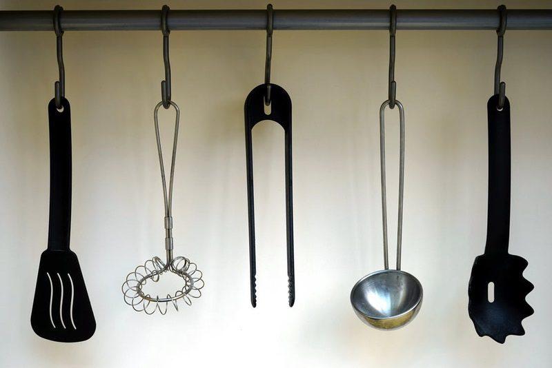 Declutter the Kitchen - hang kitchecn utensils