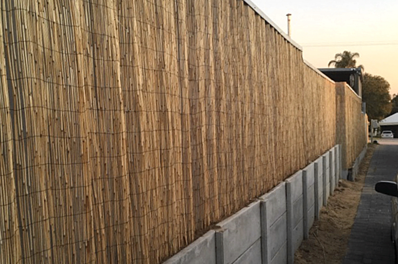 new fence - bamboo fence