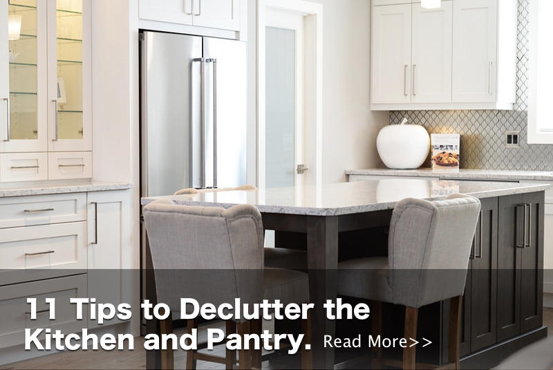 Tips to declutter the kitchen and pantry - Read more