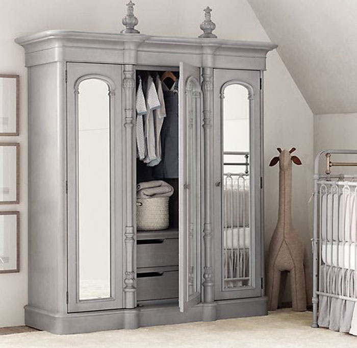 bedroom storage - free standing wardrobe