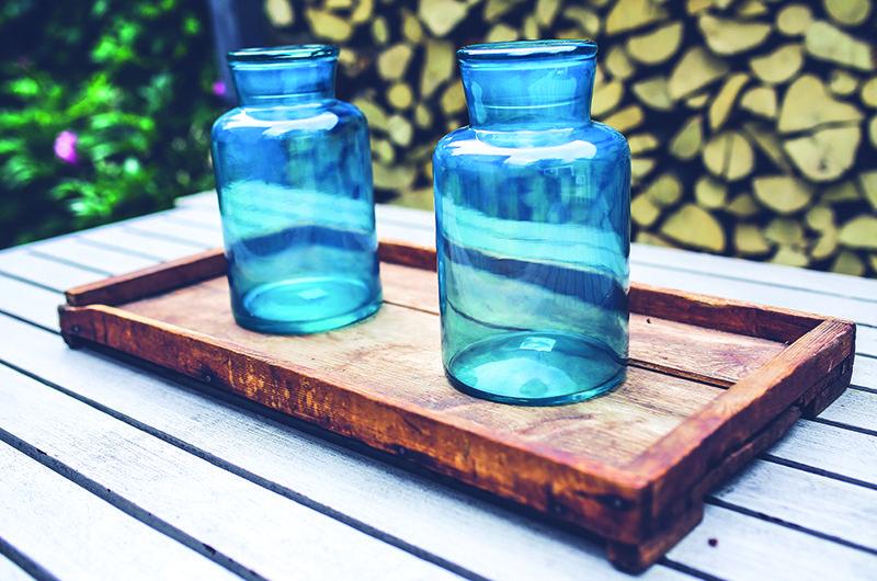 Indoor Garden - masor jar herb garden
