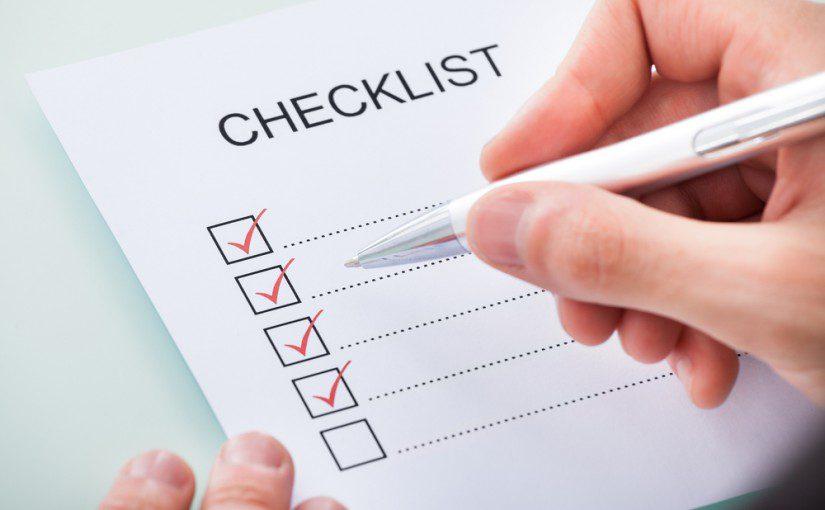 House Clean - checklist