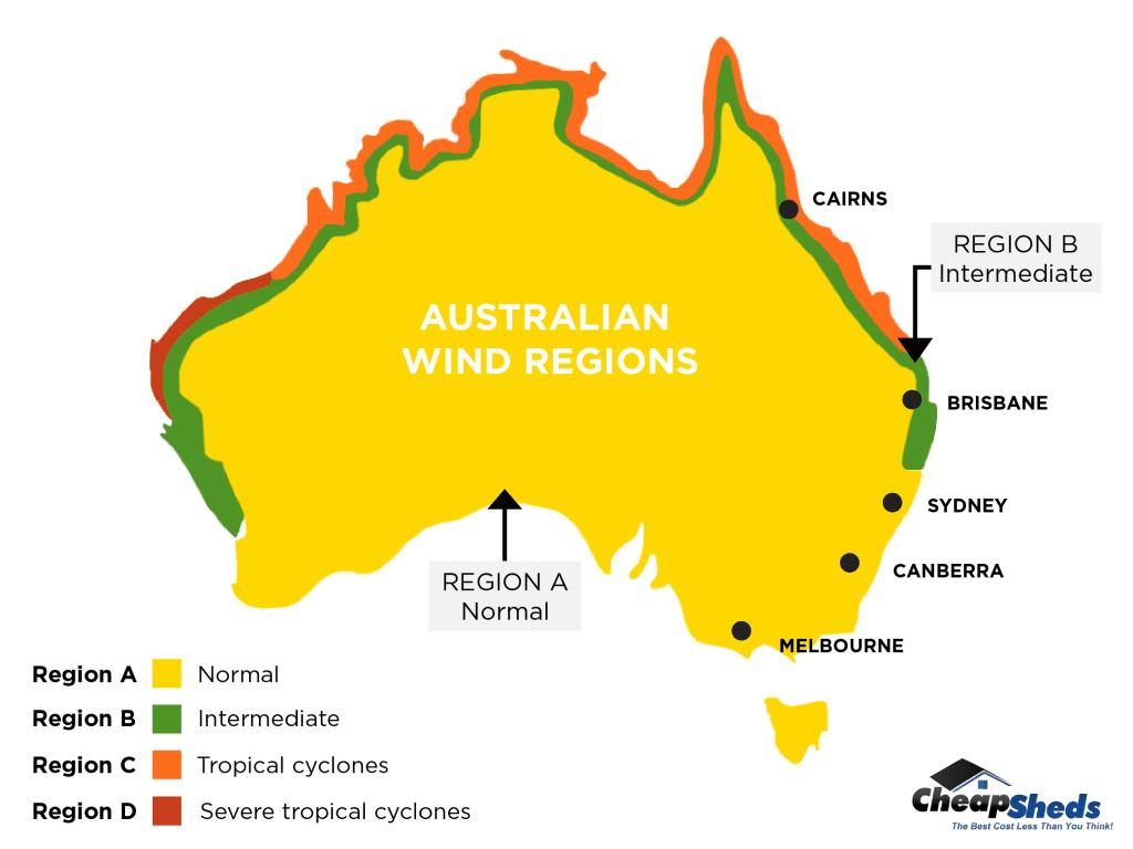 Australian Made Garage - Australian Wind Regions
