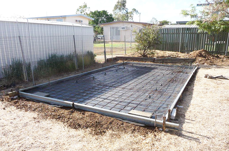 Garden Shed Foundation - level ground